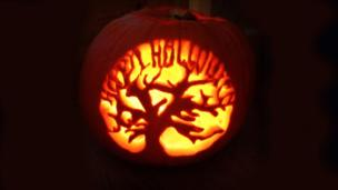 Happy Halloween pumpkin carving from Leah Baines from north Wales