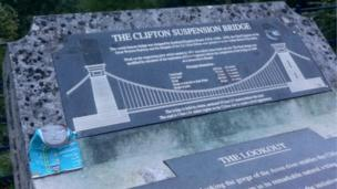 Can on Clifton Suspension Bridge