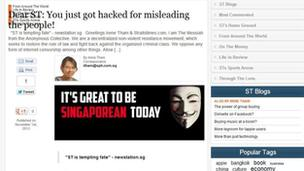 Anonymous' hacks Singapore Prime Minister's website - BBC News