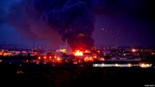 Scrapyard fire. Photo: Chris Waite