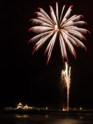 A fireworks display in Llandudno, Conwy.