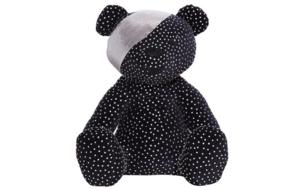 A black bear studded with silver and a silver bandana