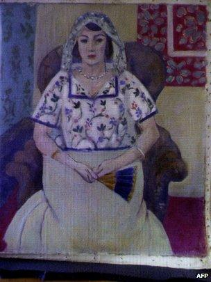Painting attributed to Henri Matisse, revealed in Augsburg, 5 November
