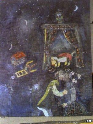 Marc Chagall painting revealed in Augsburg, 5 November