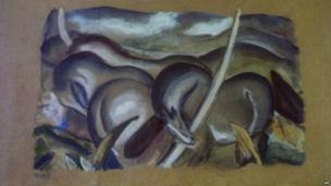 Painting by Franz Marc, unveiled by the German authorities in Augsburg, 5 November