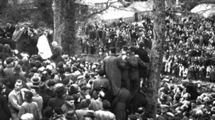 David Lloyd George's funeral in 1945
