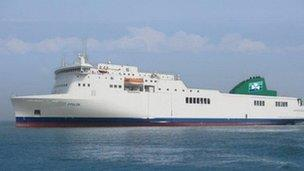 Ferry To Ireland From Holyhead >> Holyhead To Dublin Route Gets Third Irish Ferries Ship Bbc