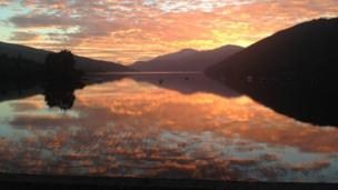 Sunset over Loch Tay
