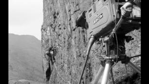 BBC Wales Outside Broadcast Unit in Snowdonia