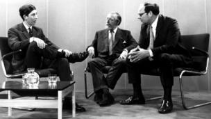 The Prince of Wales talks to the BBC's Brian Connell and Cliff Michelmore
