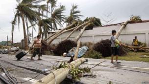 Damage in Tacloban after Typhoon Haiyan
