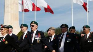 Veterans at Remembrance Day memorial service in Floriana, Malta
