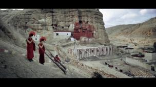 Lopa tribe people in Mustang, Nepal