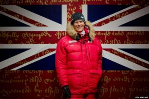 A wax figure of Prince Harry dressed in polar clothing, is displayed at Madame Tussauds