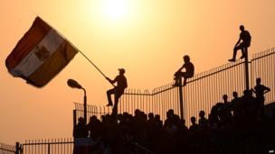 Al-Ahly fans in Cairo (10 November 2013)