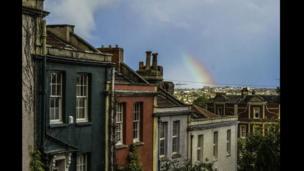 Rainbow over Nine Tree Hill