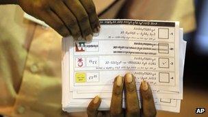 Maldivian ballot papers