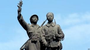 A World War 1 memorial in Dakar, Senegal (10 November 2013)