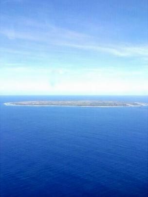 The island of Nauru form the air.