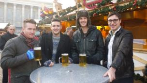 Ollie Hill, from Wolverhampton, Josh Davies, from Shifnal in Shropshire, Luke McAllister, from Telford in Shropshire and Gareth Martin from Birmingham,