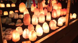 Lamps make from crystals