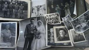 Some of the photographs in the suitcase