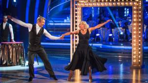 Christopher Dean and Jane Torvill dance together for Children in Need