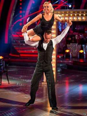 Jane Torvill dances with James Jordan