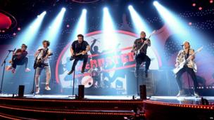 McBusted perform at the Children in Need telethon