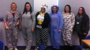 Students wearing pyjamas. Photos: Georgia Corbett