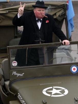 Stan Streather as Sir Winston Churchill