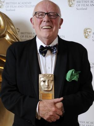 Richard Wilson was honoured for his outstanding contribution to television and film at this year's Bafta Scotland awards.