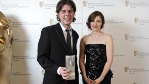 Paul Wright, the director of best feature film For Those in Peril, with actress Kelly Macdonald