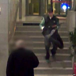 Handout image grab released on 18 November by French news channel BFMTV and taken on 15 Nov