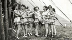 Bertram Mills Circus dancers 1939