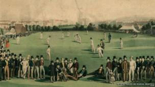 Cricket match played between Sussex and Kent 1849