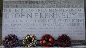 JFK memorial at Runnymede and wreaths