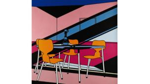 Cafe Interior; Afternoon 1973 by Patrick Caulfield