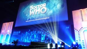 Dr Who anniversary banner. Photo: Violet Ford