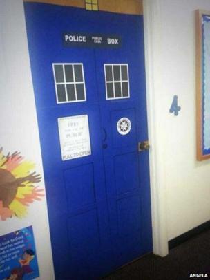 Tardis door. Photo: Angela