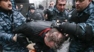 Arrest in Kiev, 25 Nov