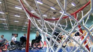 Wheelchair basketballers