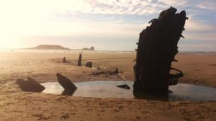 The wreck of the Helvetica, Gower