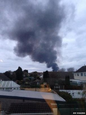 Cardiff Airport has been informed of the fire