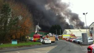 South Wales Police said the estate was closed and it was placing cordons in the area, but no roads have been closed.