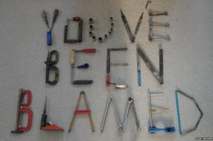 Tools spelling out, You've been blamed