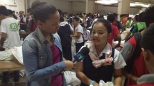 Volunteers packing aid supplies in Cebu City