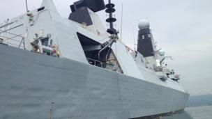 Royal Navy ship HMS Daring