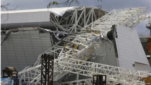 Accident site at Arena Corinthians. Photo: 27 November 2013