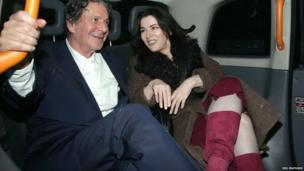 Charles Saatchi and Nigella Lawson, pictured in cab on 29 March 2012